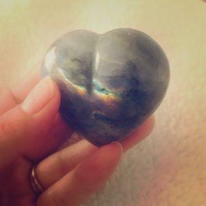 Jewelry - Labradorite stone heart 💜